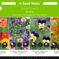 Buzzy® Zaadmatjes Eetbare Bloemen 4 matjes (5)